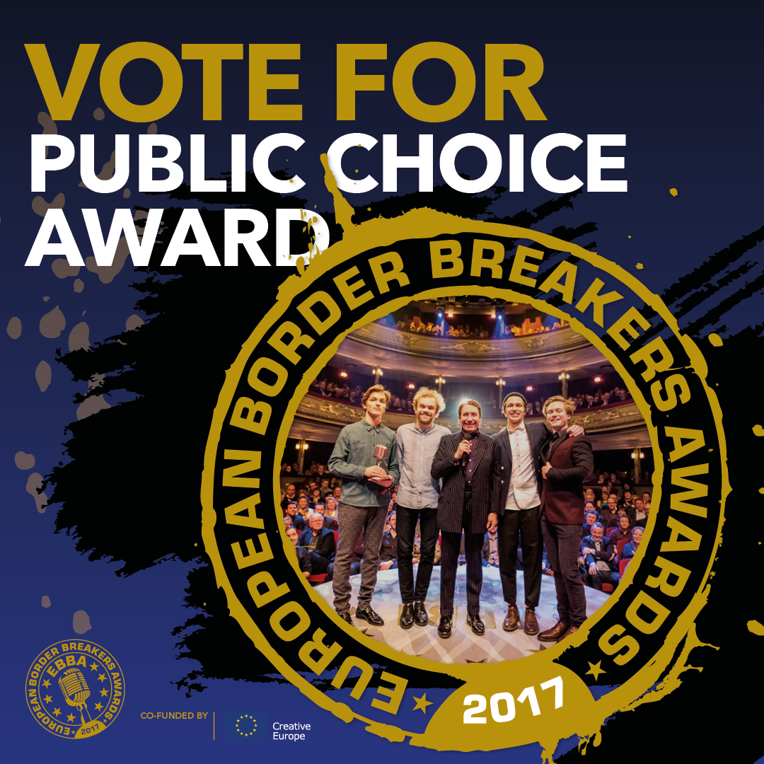 on 11 january 2017 the dutch city of groningen hosts the 14th european border breakers awards the european music show dedicated to up and coming bands and